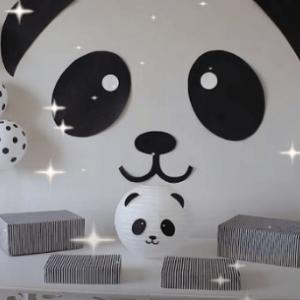 Painel de festa panda