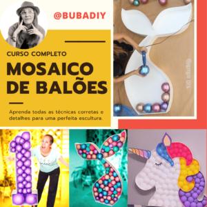 curso mosaico de baloes por buba diy