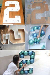 DIY Mosaico de Balões Número 2 - BuBa DIY