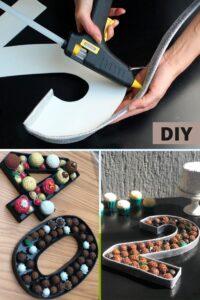 DIY Número Caixa para Decoração de mesa de Festa - BuBa DIY